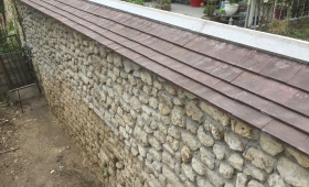 Mur après travaux de rénovation (Brie-Comte-Robert 77170)